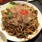 おきばり屋 - 焼きそば定食(756円)+大盛(108円)