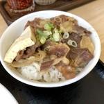 日本橋うどん酒場ほし野 - ミニ牛めしセット(350円)