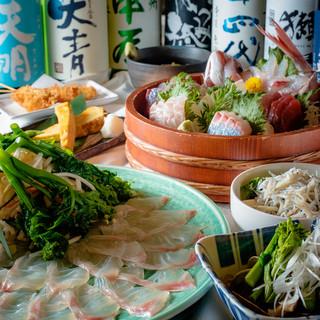 <鮮魚を楽しむ>歓送迎会・各種宴会におすすめのコース!