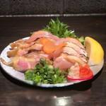 炭火串焼専門店 鶏天 - 淡海地鶏、ももむねたたき