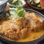 国産鶏かつ煮御膳