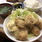 季節料理 西田 - カキフライ定食 800円