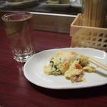 お多福 - 燗酒 & ポテトサラダ