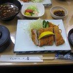 とんかつ一番 - 料理写真:名物オロシとんかつ & ご飯 & お味噌汁