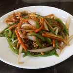 海南飯店 - 豚肉とピーマンの細切り炒め
