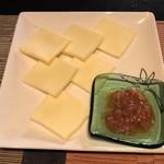 純米酒バー すじかい - 酒盗チーズ