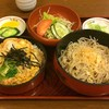 新ふじ - 料理写真:セット定食850円の冷そば&親子