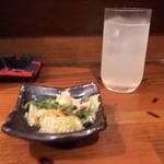 ご飯屋 おむすび - 付き出し ¥300+tax + 梨園
