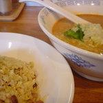 10496842 - 坦坦麺&半炒飯(1110円)