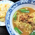 聚仙閣 - 料理写真:台湾味噌ラーメン+チャーハン