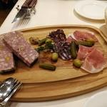 ビストロ オザミ - シャルキュトリーと田舎風豚肉のパテ