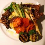 Comptoir Coin - 前菜盛合せ  玉ねぎのキッシュ、スパニッシュオムレツ、焼野菜盛合せ