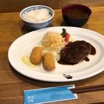 Kicchimmirupowa - スペシャルセットランチ 1,280円 ハンバーグとカニクリームコロッケ