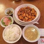 川菜味 - ランチ①  麻婆豆腐定食  865円