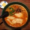 博多とんこつ 天神旗 - 料理写真:赤とんこつ超激辛 850円(2019年4月) とても辛いけど、たまに食べたくなります。
