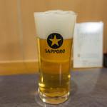 鰻 むさし乃 - 生ビール 小グラス