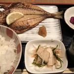 吟ばん - 鯵の干物定食千円