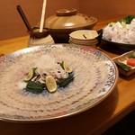 和食処まきや - とらふぐのコース