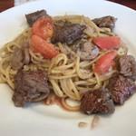 RISE Pasta&Grill - 牛赤身肉がゴロゴロ入ったパスタ