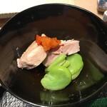 第三春美鮨 - 鮃の肝とそら豆
