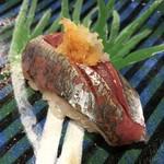 第三春美鮨 - 真鰺 78g 瀬付き 定置網漁 兵庫県沼島