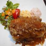 丸太小屋レストラン  びんずる - 豆腐ステーキ