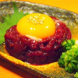 桜ユッケ750円