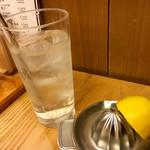 蕎麦前処 二尺五寸 - 【生搾り レモンサワー】(@-@)「520円」