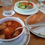 1050444 - パスタランチ パン、スープ、サラダ