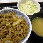 10500531 - 牛丼と味噌汁とコールスロー