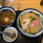 たけもと - 料理写真:【鶏と魚介の煮玉子つけ麺…950円】◎2019/3