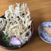 割烹いわさき - 料理写真:ごぼう天うどん=500円 いなり 1個=80円