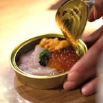 焼肉 うしみつ - 缶詰のユッケ
