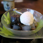 蕎麦処 多賀 - あんみつ