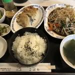 こぶた - 料理写真:餃子と野菜炒め定食 720円