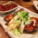 鉄火 - 名物 和牛ホルモン  辛味噌焼き  580円