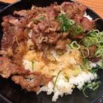 カルビ丼とスン豆腐専門店 韓丼 - 並でもボリュームあります