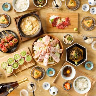大人気の「博多野菜巻き串」をコースで堪能!