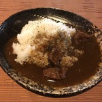 純米酒バー すじかい - 鹿カレー
