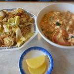 入船食堂 - 料理写真:玉子丼 焼そばセット 900円