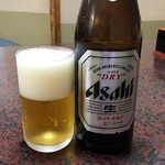 そば福 - 中瓶ビールアサヒ550円