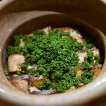 豪龍久保 - 桜鱒(青森)と花山椒の炊き込みご飯