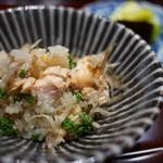 豪龍久保 - 桜鱒と花山椒の炊き込みご飯