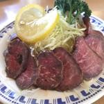 パピオット - ラム肉のタタキ。臭みは全く感じません。 意外と美味しいですね。\(^-^)/