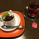 豆腐ボウル - 豆乳アイスとベリーミックスのお茶