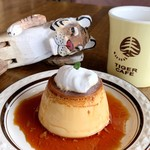 タイガーカフェ - ランチのデザートセット 自家製プリン(+450円)ドリンク付き