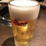 焼肉 大河 - 生ビール