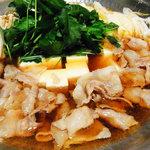 坊野 - 体が温まる!天ぷらにも合う!「肉豆腐なべ」!