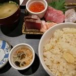 芝大門 さくら - 筍ご飯とお刺身定食 850円