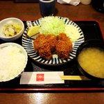 とんかつ 田 - とんかつ 田 西葛西店 牡蠣フライ定食 1,365円